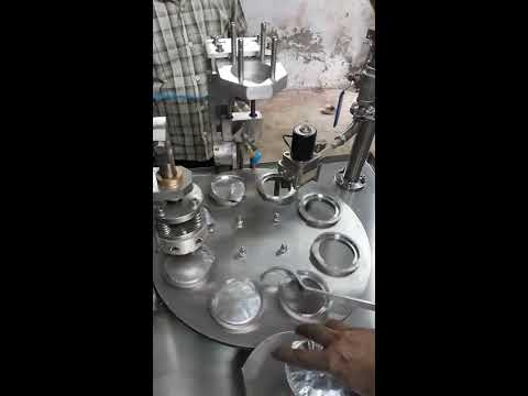 Semi Auto Cup Filling And Sealing Machine Rotary Machine