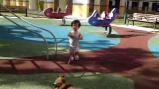 Kai Ling at playground