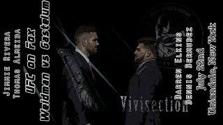 The MMA Vivisection - UFC on FOX 25: Weidman vs. Gastelum picks, odds, and analysis