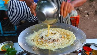 Indian Brothers Making Delicious Egg Dishes   Surat Famous Egg Dosa   Indian Street Food