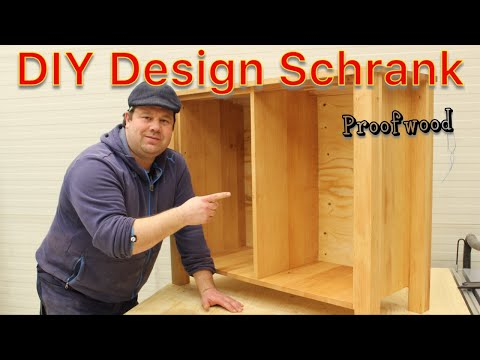 Du willst einen Schrank bauen? Designer Möbel selber bauen