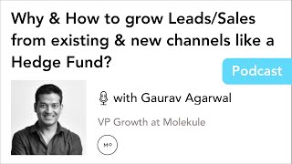 Why & How to grow Leads/Sales from existing & new channels like a Hedge Fund? - with Gaurav Agarwal