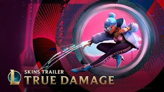 Command the stage with True Damage Akali, Qiyana, Yasuo, and Senna for 1350 RP, or leave 'em behind with Ekko's Legendary True Damage skin for 1820 RP. Stay on the lookout for Qiyana's True Damage Prestige skin.  Virtual hip-hop group True Damage was born when K/DA's lead rapper Akali sought to bring together the distinct talents of Ekko, Senna, Qiyana, and Yasuo in an ambitious, genre-defying collaboration.  Play for free! Sign up and download League of Legends at https://riot.com/playfree. #TRUEDAMAGE #TRUEDAMAGESKINS #LEAGUEOFLEGENDS