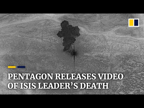 Pentagon releases footage of US military raid that killed Isis leader al-Baghdadi in Syria