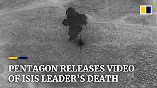 Pentagon releases footage of US military raid that killed Isis leader al-Baghdadi in Syria
