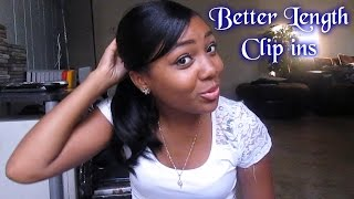 Better Length Clip-ins Unboxing + 1st Impression Try ON