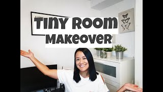 TINY ROOM MAKEOVER - How To Transform Your Room To An IKEA-inspired Multi-functional Bedroom