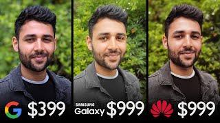 Google Pixel 3a vs Galaxy S10+ vs Huawei P30 Pro Camera Comparison