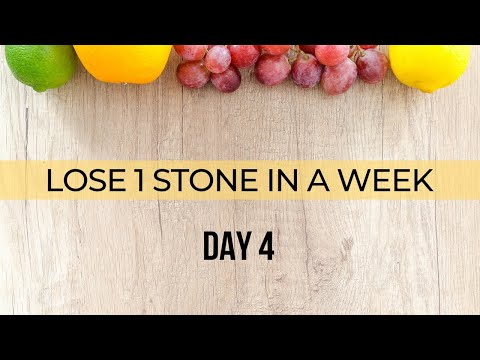 Video Lose 1 stone in a week   Day 4