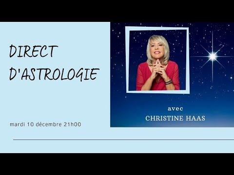 Direct d'astrologie du mardi 10 décembre 2019 avec Christine Haas