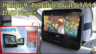 """Philips Dual 9"""" Headrest Screen DVD Player for your Car (PD9012/37)"""