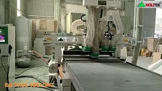MÁY CNC NESTING 4 Đầu Pro-R4F Holztek  sản xuất nội thất công nghệ 4.0