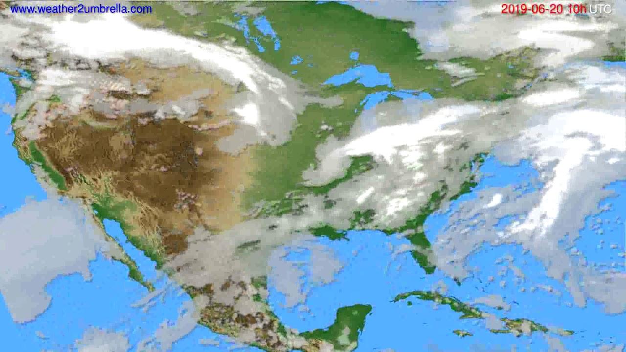 Cloud forecast USA & Canada // modelrun: 00h UTC 2019-06-18