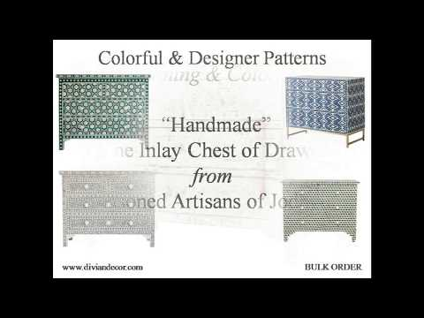 Bone Inlay Chest of Drawers