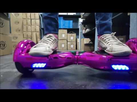 Hoverboard rosa cromado ou metalizado smart balance lançamento 2017