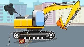 Excavadoras - Carritos para niños - La Excavadora - Carros infantiles - Mundo de los Сoches