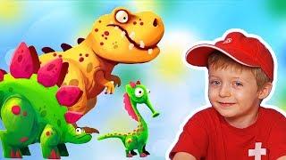Игра про Динозавров для Детей Защищаем Яйцо от Траглодитов #24  Мультик про Динозавров Lion boy