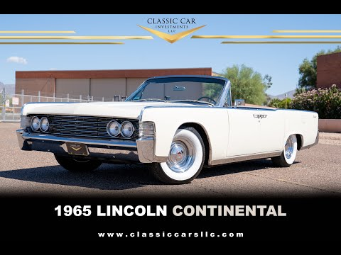SOLD: 1965 Lincoln Continental Convertible - Gorgeous Car - A/C - Chrome Wheels - WOW!