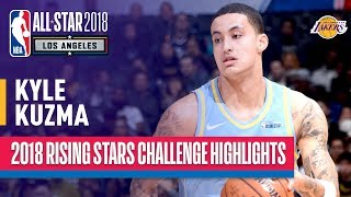 kyle kuzma shines in 2018 rising stars game  presented by mtn dew kickstart