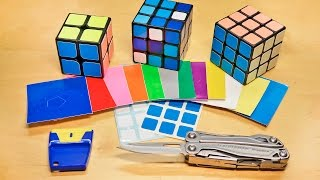 CAMBIAR STICKERS de un cubo de RUBIK | HD | Tutorial | Español