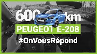 600km en PEUGEOT e-208 : la FAQ !