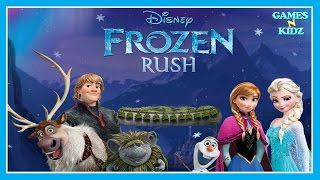 Disney Frozen Rush - Elsa, Anna, Olaf & Kristoff Runner Game - Disney Games For Kids