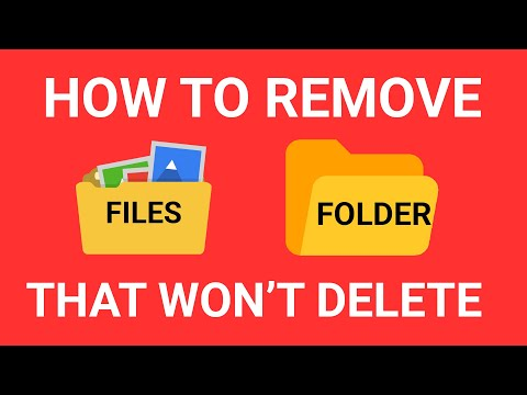 Folder Can't Delete - How to Remove FOLDERS That Won't Delete? Latest Trick 2017