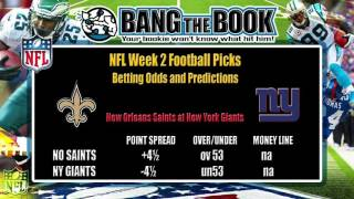 NFL Week 2 Betting Odds Preview