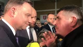 Spotkanie Prezydenta RP z rolnikiem z powiatu łomżyńskiego. Uwaga! Prawdziwe i mocne!
