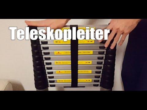 Teleskopleiter Test - Stepomax Teleskopleiter 3,80 Meter mit Tragetasche