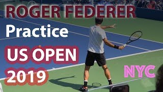 ROGER FEDERER Practice at the US Open 2019 | Full length