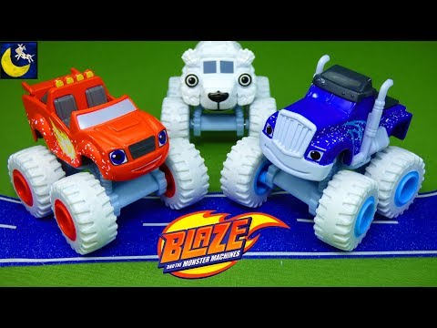 Polar Pals Blaze and the Monster Machines Gift Set & My Collection of LOTS of Die Cast Truck Toys