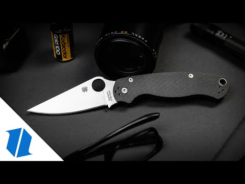 "Spyderco Paramilitary 2 Tanto Compression Lock Knife G-10 (3.4"" Black) Exclusive"
