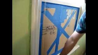 Broken Window Pane Replacement: Step #1, removing the brocken glass