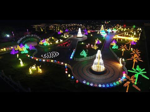 """STATUE OF UNITY"":  Kevadia (Gujarat) becomes a ""Land of Billion Lights"" at night."