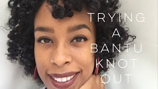BANTU KNOT OUT |  FIRST TIME NATURAL