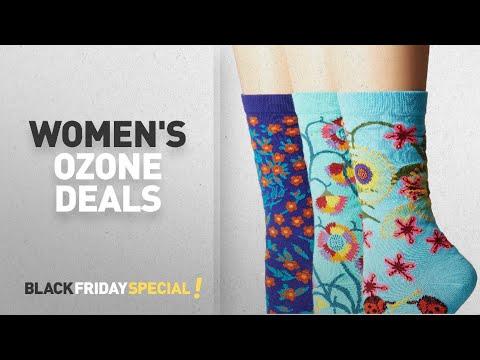 Cyber Monday Women's Ozone Deals: Ozone Women's Novelty Crew Socks 3 Pack