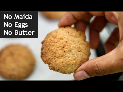 No Maida – No Butter – No Eggs | Coconut Cookies Recipe – How To Make Eggless Coconut Cookies