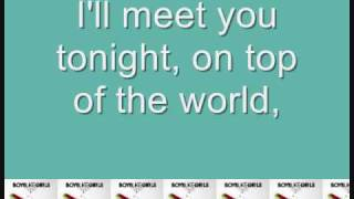 On Top of the World by Boys Like Girls (with lyrics on screen!)