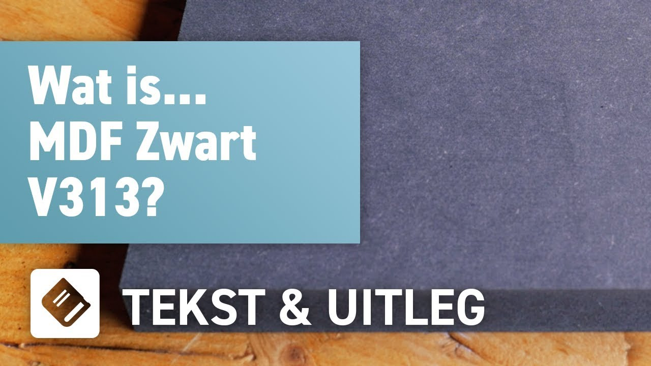 MDF Zwart V313