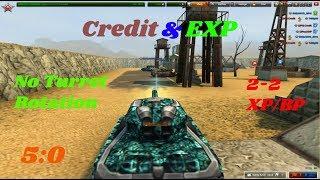 Credit & EXP 2-2 XP/BP Zone Gameplay (No Turret rotation/Noobs)