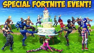100 Players Celebrate Fortnite's Birthday! - Fortnite Funny Fails and WTF Moments! #268