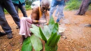 Rare TRIBAL FOOD in India!! Leaf Basket COOKING!   Kerala, India