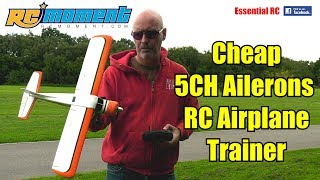 *FIRST CHEAP RC AIRPLANE TRAINER WITH AILERONS* DHC-2 A600 5CH 3D6G SYSTEM: ESSENTIAL RC FLIGHT TEST