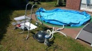 Bestway Pool aufbauen (Bestway Steel Pro).