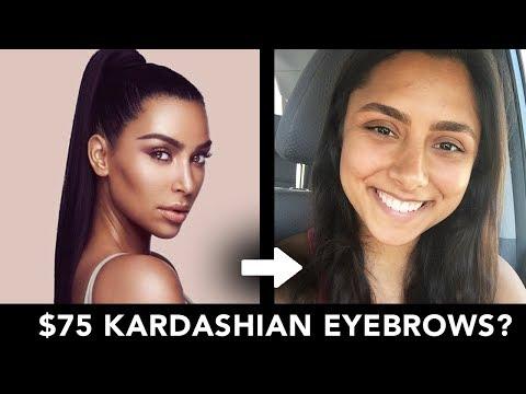 I Got Kim Kardashian's $75 Eyebrow Wax Service