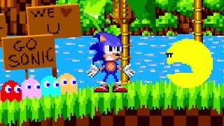 LOKMAN: Sonic the Hedgehog vs Pacman in a race