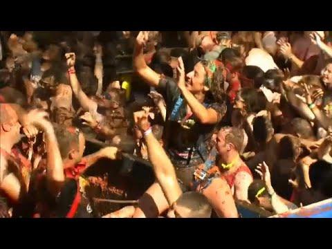 العرب اليوم - شاهد: مهرجان معركة الطماطم في  فالنسيا شرق إسبانيا