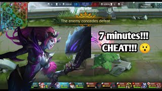 CHEAT that make enemy surrender in 7 minutes Mobile Legends Bang Bang