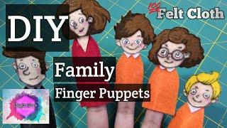 DIY Family Finger Puppets   Felt   Tutorial   Super Cheap And Easy   Philippines   Cebu